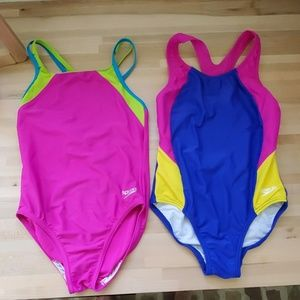 2 size 8 speedo swimsuits for girls
